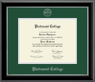 Piedmont College Diploma Frame - Silver Embossed Diploma Frame in Onyx Silver