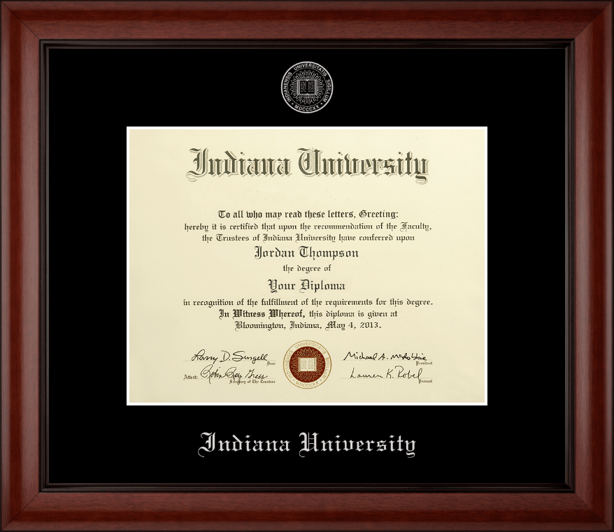 Indiana University Southeast Silver Embossed Diploma Frame