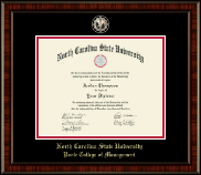 North Carolina State University Diploma Frame - Black Enamel Masterpiece Medallion Diploma Frame in Ridgewood
