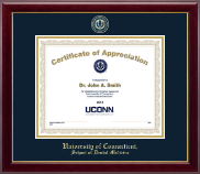 University of Connecticut School of Dental Medicine Certificate Frame - Masterpiece Medallion Certificate Frame in Gallery