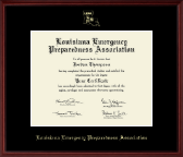 Louisiana Emergency Preparedness Association Certificate Frame - Gold Embossed Certificate Frame in Camby