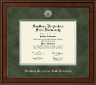 Southern Polytechnic State University Diploma Frame - Presidential Silver Engraved Diploma Frame in Madison