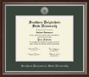 Southern Polytechnic State University Diploma Frame - Silver Engraved Medallion Diploma Frame in Devonshire