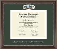 Southern Polytechnic State University Diploma Frame - Campus Cameo Diploma Frame in Chateau