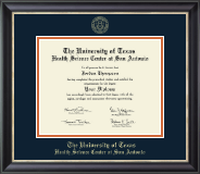 UT Health Science Center at San Antonio Diploma Frame - Gold Embossed Diploma Frame in Noir