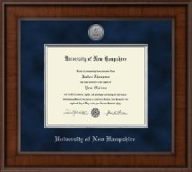 University of New Hampshire at Manchester Diploma Frame - Presidential Silver Engraved Diploma Frame in Madison