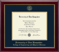 University of New Hampshire Diploma Frame - Gold Embossed Diploma Frame in Gallery