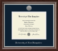 University of New Hampshire at Manchester Diploma Frame - Silver Engraved Medallion Diploma Frame in Devonshire