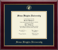 Siena Heights University Diploma Frame - Gold Embossed Diploma Frame in Gallery