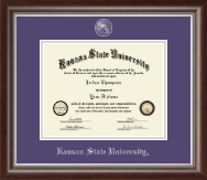 Kansas State University Diploma Frame - Masterpiece Medallion Diploma Frame in Devonshire