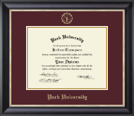 Park University Diploma Frame - Gold Embossed Diploma Frame in Noir