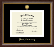 Park University Diploma Frame - Gold Engraved Medallion Diploma Frame in Prescott