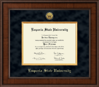 Emporia State University Diploma Frame - Presidential Gold Engraved Diploma Frame in Madison