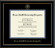 Texas A&M University Kingsville Diploma Frame - Gold Embossed Diploma Frame in Onyx Gold