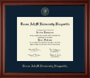 Texas A&M University Kingsville Diploma Frame - Gold Embossed Diploma Frame in Cambridge