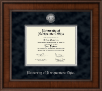 University of Northwestern Ohio Diploma Frame - Presidential Silver Engraved Diploma Frame in Madison