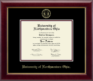 University of Northwestern Ohio Diploma Frame - Gold Embossed Diploma Frame in Gallery