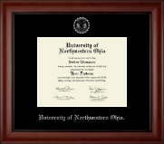 University of Northwestern Ohio Diploma Frame - Silver Embossed Diploma Frame in Cambridge