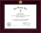 Phi Kappa Phi Honor Society Certificate Frame - Century Gold Engraved Certificate Frame in Cordova