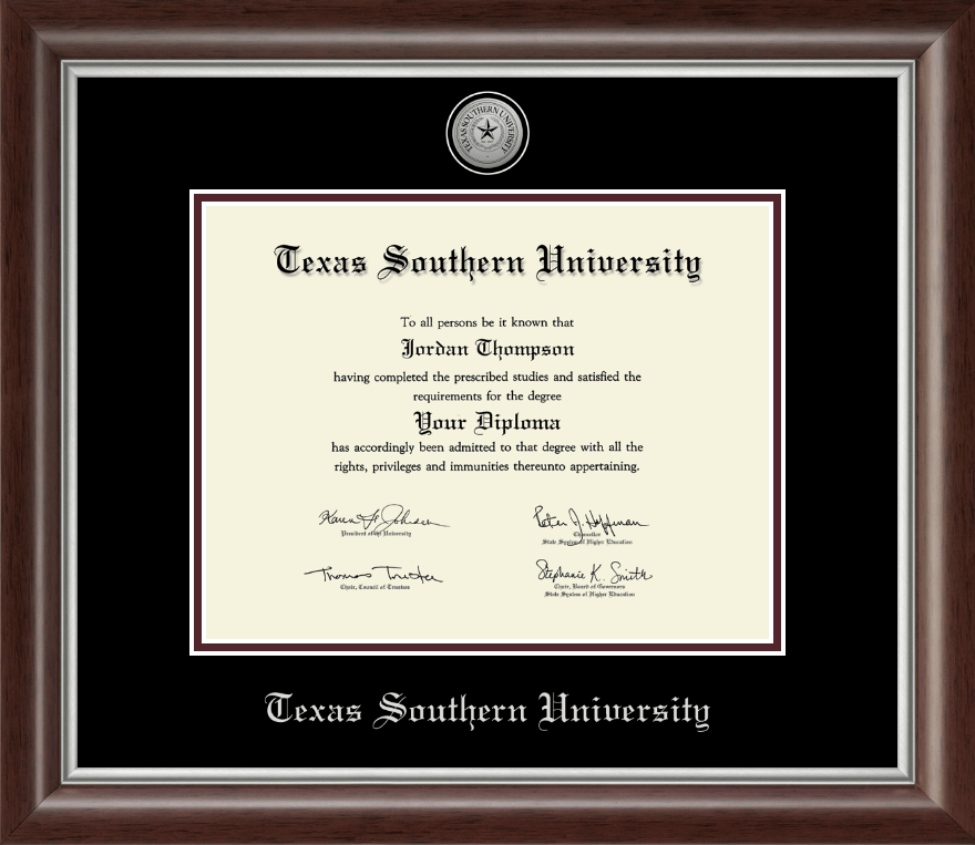 texas southern university silver engraved medallion