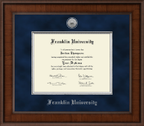Franklin University Diploma Frame - Presidential Silver Engraved Diploma Frame in Madison