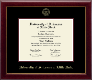 University of Arkansas at Little Rock Diploma Frame - Gold Embossed Diploma Frame in Gallery
