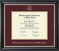 University of Arkansas at Little Rock Diploma Frame - Gold Embossed Diploma Frame in Noir