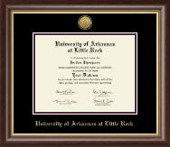 University of Arkansas at Little Rock Diploma Frame - Gold Engraved Medallion Diploma Frame in Hampshire