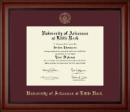 University of Arkansas at Little Rock Diploma Frame - Gold Embossed Diploma Frame in Cambridge