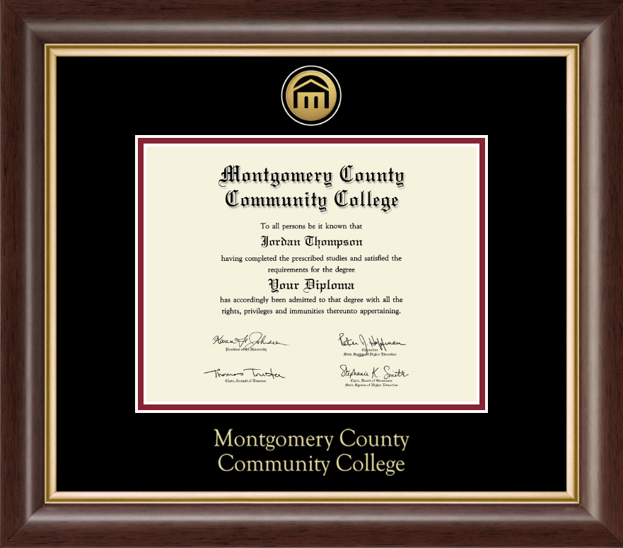 montgomery county community college diploma frame gold engraved medallion diploma frame in hampshire