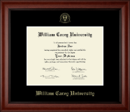 William Carey University Diploma Frame - Gold Embossed Diploma Frame in Cambridge