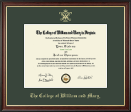 William & Mary Diploma Frame - Gold Embossed Diploma Frame in Studio Gold