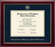 Southeastern Oklahoma State University Diploma Frame - Gold Embossed Diploma Frame in Gallery