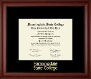 Farmingdale State College Diploma Frame - Gold Embossed Diploma Frame in Cambridge
