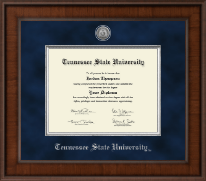 Tennessee State University Diploma Frame - Presidential Silver Engraved Diploma Frame in Madison