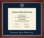 Tennessee State University Diploma Frame - Silver Embossed Diploma Frame in Kensington Silver