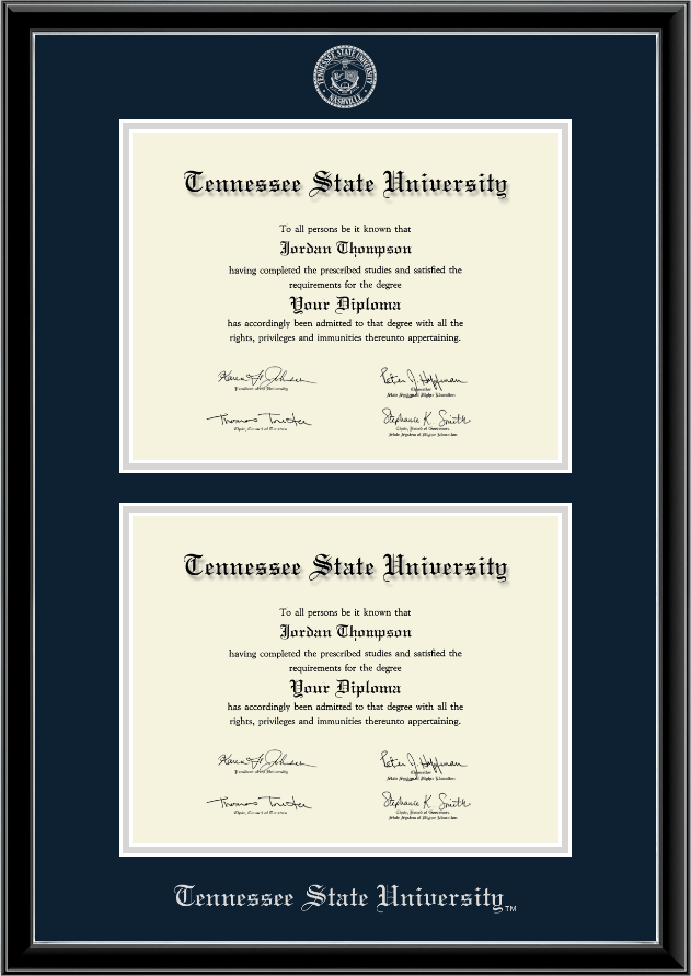 Tennessee State University Double Document Diploma Frame