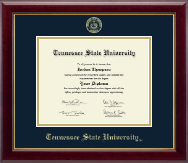 Tennessee State University Diploma Frame - Gold Embossed Diploma Frame in Gallery