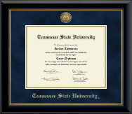 Tennessee State University Diploma Frame - Gold Engraved Medallion Diploma Frame in Onyx Gold