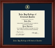 John Jay College of Criminal Justice Diploma Frame - Gold Embossed Diploma Frame in Cambridge