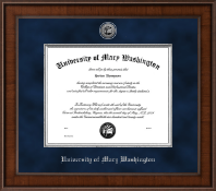 University of Mary Washington Diploma Frame - Presidential Silver Engraved Diploma Frame in Madison