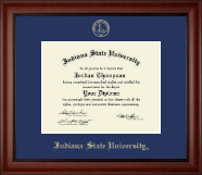 Indiana State University Diploma Frame - Gold Embossed Diploma Frame in Cambridge