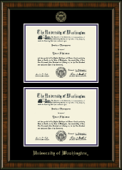 University of Washington Diploma Frame - Double Document Diploma Frame in Brentwood