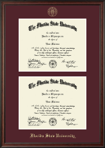 Florida State University Diploma Frame - Double Document Diploma Frame in Studio