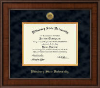 Pittsburg State University Diploma Frame - Presidential Gold Engraved Diploma Frame in Madison