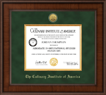Culinary Institute of America Diploma Frame - Presidential Gold Engraved Diploma Frame in Madison