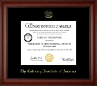 Culinary Institute of America Diploma Frame - Gold Embossed Diploma Frame in Cambridge