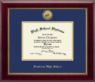 Newtown High School in Connecticut Diploma Frame - Gold Engraved Medallion Diploma Frame in Gallery