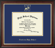 Newtown High School in Connecticut Diploma Frame - Gold Embossed Diploma Frame in Studio Gold