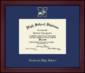 Newtown High School in Connecticut Diploma Frame - Gold Embossed Diploma Frame in Academy